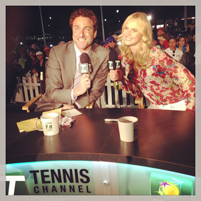 @annev_official: How's this for a seat? @justingimelstob #indianwells