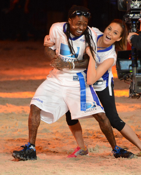 Lil Wayne and Chrissy Teigen :: Jason Merritt/Getty Images