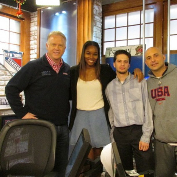 @damarislewis: Then hopped over to Boomer and Carton. The talent show will be at Radio City on April 16! Can't wait. #gardenofdreams