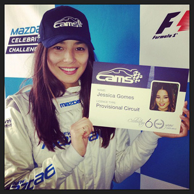 @iamjessicagomes: Got my CAMS license today! I'm a professional racer! #F1