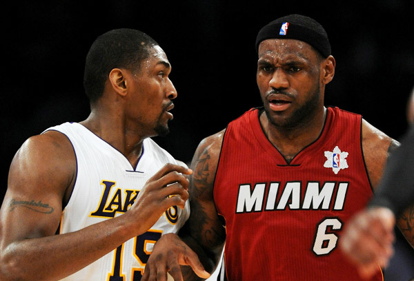 2010 - Ron Artest does not not approve of the forehead exposure. (Getty Images)