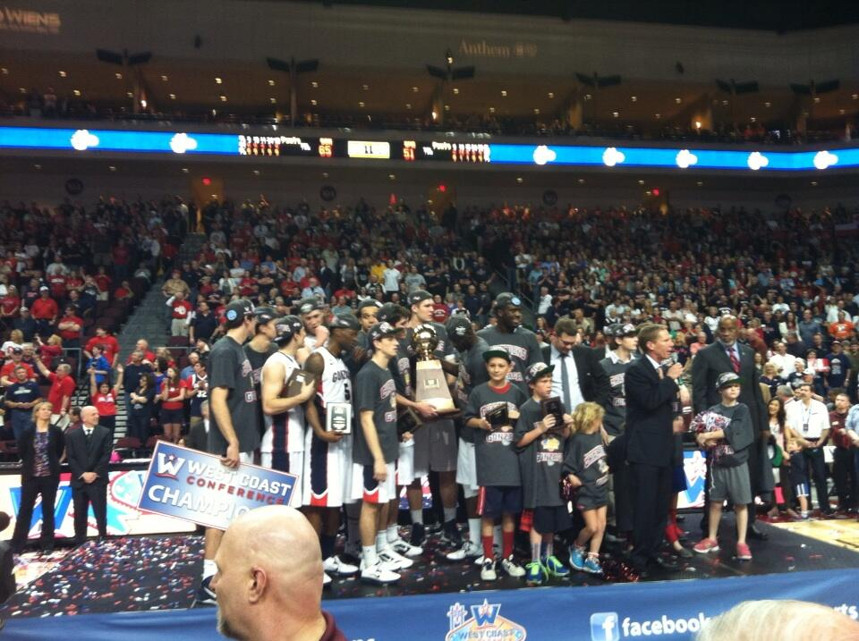 Zags take the podium.