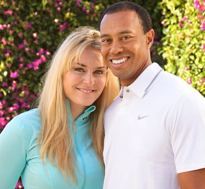 Lindsey Vonn and Tiger Woods :: @lindseyvonn