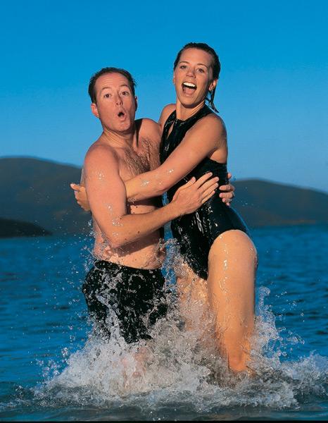 Annika Sorenstam and David Esch :: Walter Iooss Jr./SI