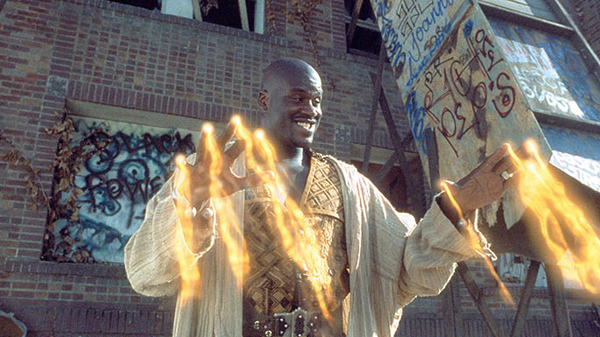 "KAZAAM (1.5 stars): ""As for Shaquille O'Neal, given his own three wishes the next time, he should go for a script, a director and an interesting character."" (PolyGram)"