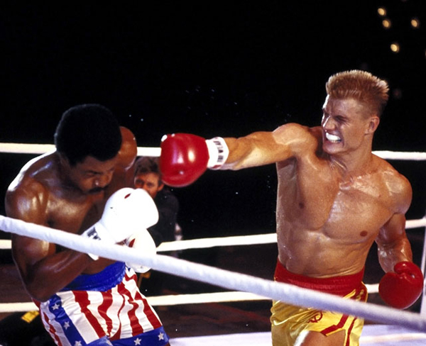 "ROCKY IV (1.5 stars): ""Rocky IV"" has many moments that are not believable. My favorite is the moment when Rocky faces Drago in the ring in Moscow, and the all-Russian crowd starts chanting ""Rocky! Rocky!"" Sure. Uh-huh. You bet. ... Stallone says this will"
