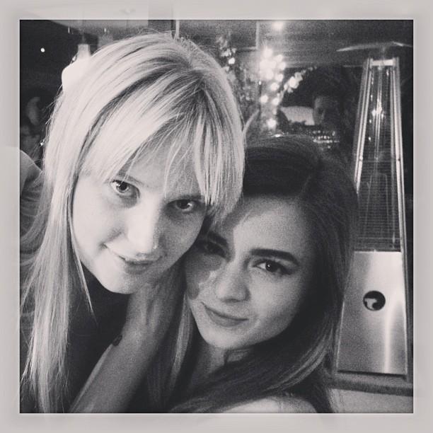 @genevievemorton: Game night with @malina_g_