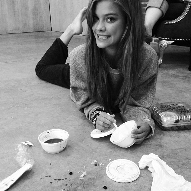 @ninaagdal: Getting a little messy.. Oops