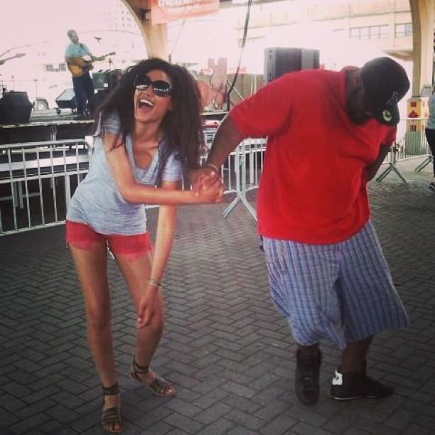 @1arielmeredith: My cousin/bodyguard c-walking in the middle of zydeco lmao. Good times you Quent!!