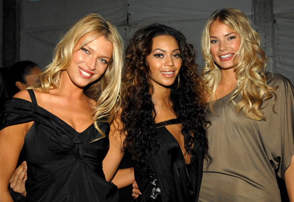 Veronica Varekova, Beyonce Knowles and Tori Praver :: John Sciulli/WireImage.com