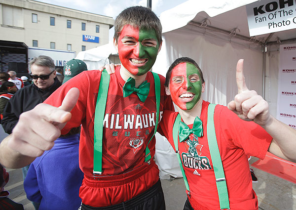 Bucks fans, Game 3 versus Heat. (Mike McGinnis/Getty Images)