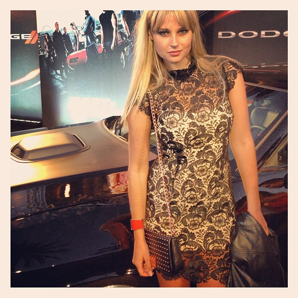 @genevievemorton: #Love my dress for last nights #fastandfurious6 thanks @ajceli for styling me!