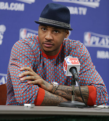 Carmelo Anthony, Knicks: Game 4 vs. Pacers (Ron Hoskins/NBAE via Getty Images)