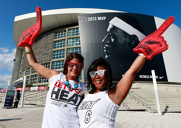 Heat fans, Game 1 versus Bulls. (Chris Trotman/Getty Images)