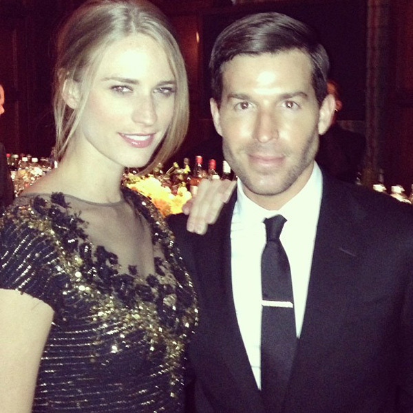 @juliephenderson: Date night with @benjaminthigpen #goalsforlife #carolinaherrera