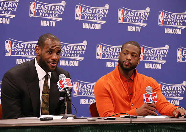 LeBron James, Dwyane Wade, Heat: Game 3 vs. Pacers (Nathaniel S. Butler/NBAE via Getty Images)