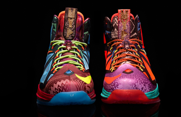 """The front of the """"MVP"""" version of the LeBron X. (Nike)"""
