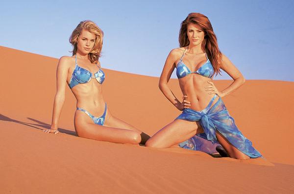 Rebecca Romijn and Angie Everhart :: Marco Glaviano/SI