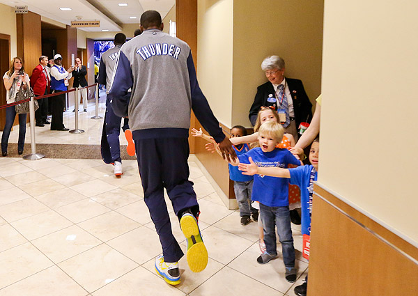 Thunder fans, Game 2 versus Grizzlies. (Layne Murdoch/NBAE via Getty Images)