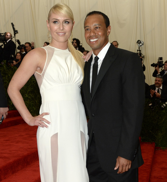 Lindsey Vonn and Tiger Woods :: TIMOTHY A. CLARY/AFP/Getty Images