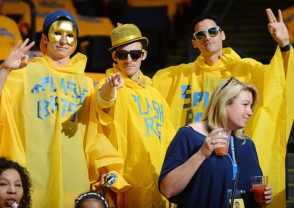 Warriors fans, Game 4 versus Spurs. (Garrett W. Ellwood/NBAE via Getty Images)