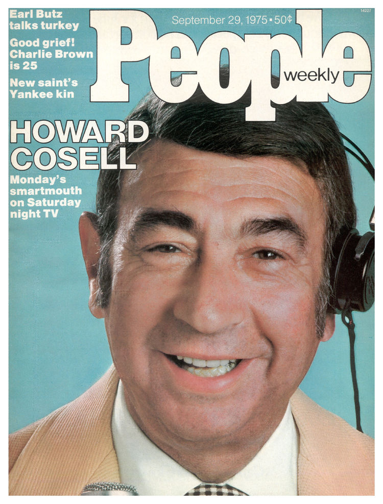 Howard Cosell (Sept. 29, 1975): The Monday Night Football broadcaster was branching out into variety fare.