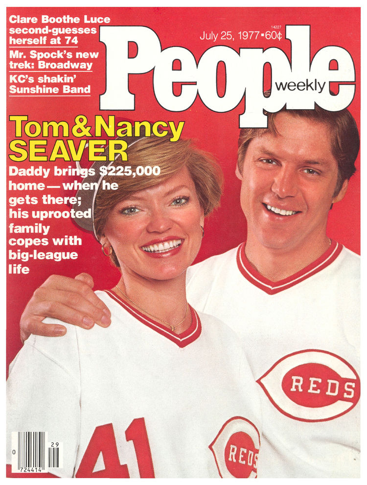 Tom Seaver (July 25, 1977): The pitcher and his wife landed the cover of People (and Sports Illustrated) shortly after his trade to the Reds.
