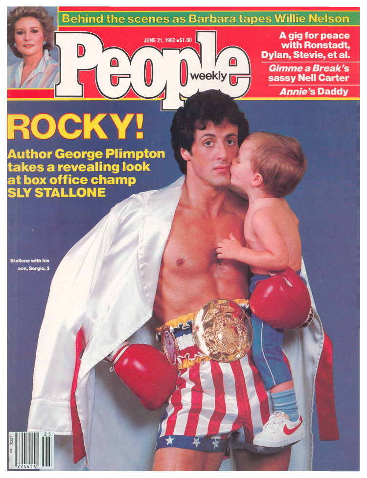 Sylvester Stallone (June 21, 1982): George Plimpton penned the cover story on Stallone pegged to the release of Rocky III.