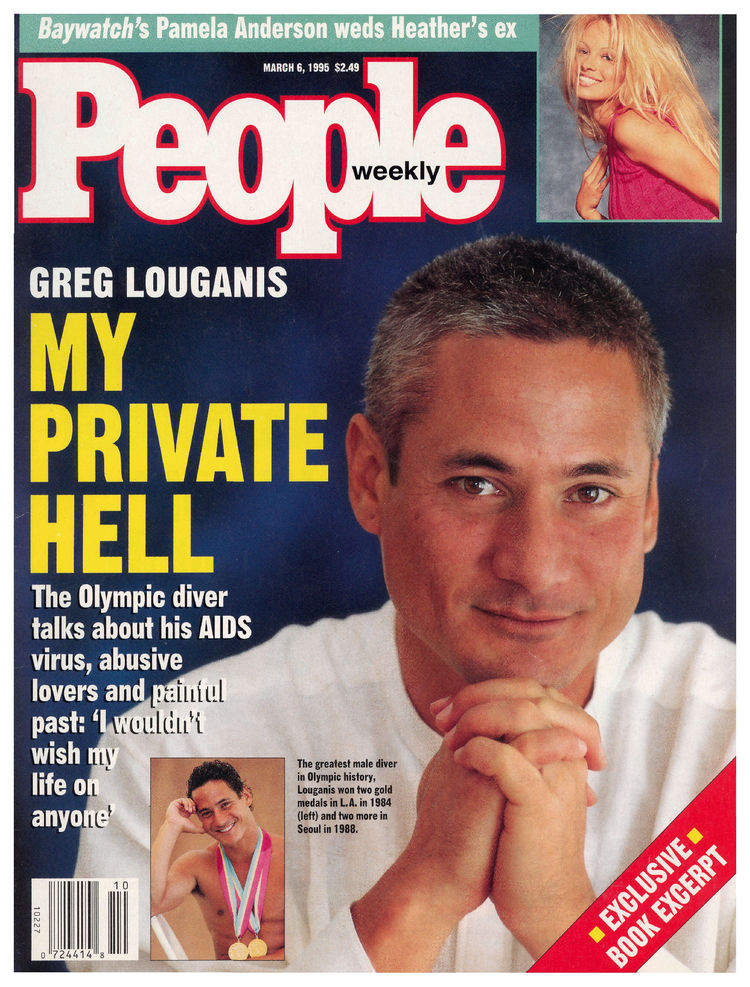 Greg Louganis (Mar. 6, 1995): The four-time Olympic gold medalist opened up about his experience with AIDS.