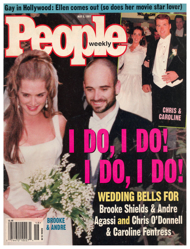 Andre Agassi (May 5, 1997): Agassi's wedding to Brooke Shields landed the front -- but it wouldn't be their only cover together.