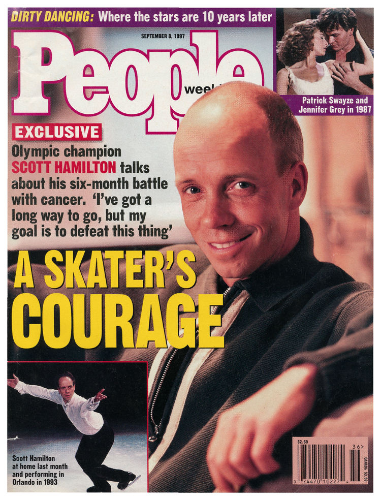 Scott Hamilton (Sept. 8, 1997): The Olympic gold medalist had a much-publicized battle with testicular cancer.