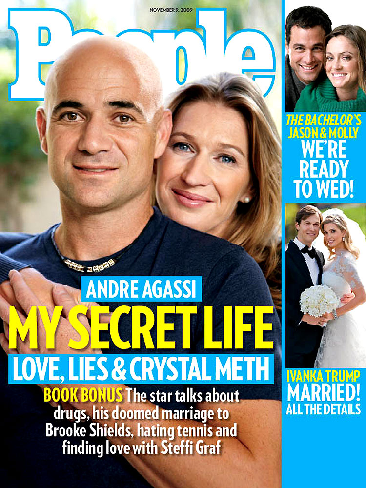 Andre Agassi and Steffi Graf (Nov. 9, 2009): Agassi first revealed details of his magnificent autobiography in a People cover story.