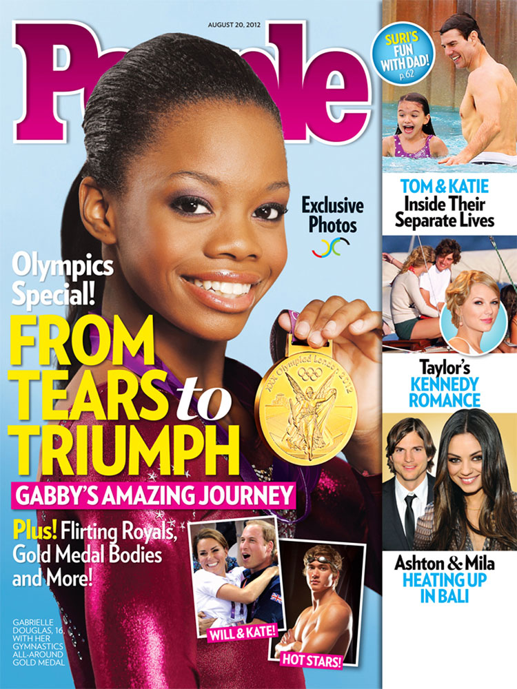 Gabby Douglas (Aug. 20, 2012): The first woman of color to become the Olympic individual all-around champion became a crossover star after last year's London Games.