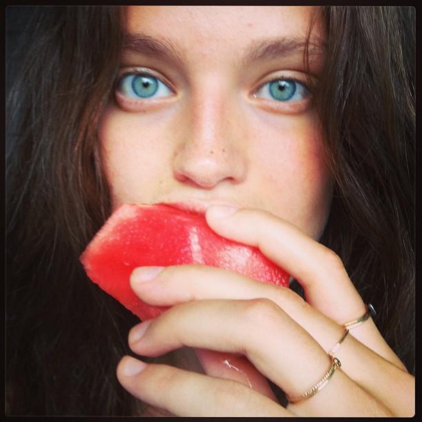 @emilydidonato1: So happy to be #home #upstate #watermelon #summer rings by @catbirdnyc