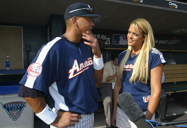 Alex Rodriguez and Jennie Finch :: Christian Petersen/Getty Images