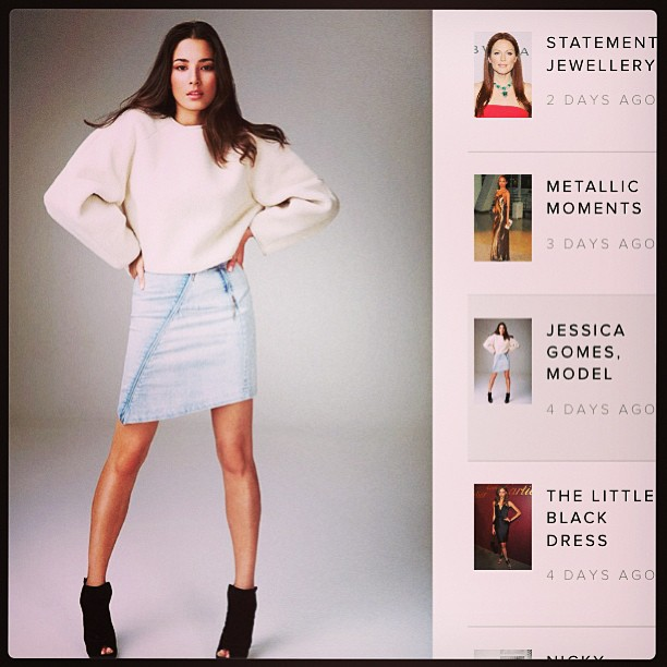 @iamjessicagomes: Check out @harpersbazaarus harpersbazaar.com.au for my interview on my style. @davidjonesstore