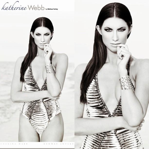 @_katherinewebb: Featured in Runway Magazine this month!  Wearing couture @herveleger swimsuit @RUNWAYMAGAZINE @angelaphoto