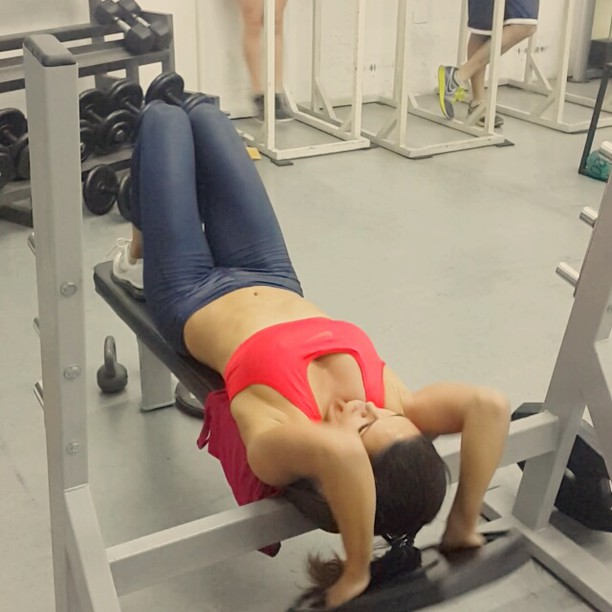 @lerynf: #athleticcare #gym con @daviddiazdevivar #presspullover #entrenamiento #trackandfield #javelin