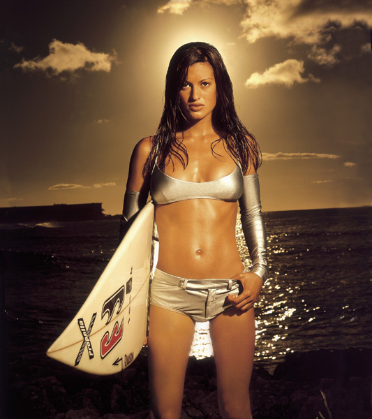 Malia Jones in Oahu, Hawaii :: Walter Iooss Jr./SI (1999)