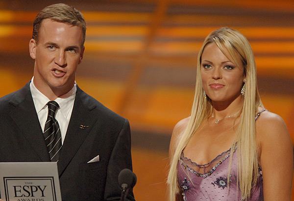 Peyton Manning and Jennie Finch ::  M. Caulfield/WireImage