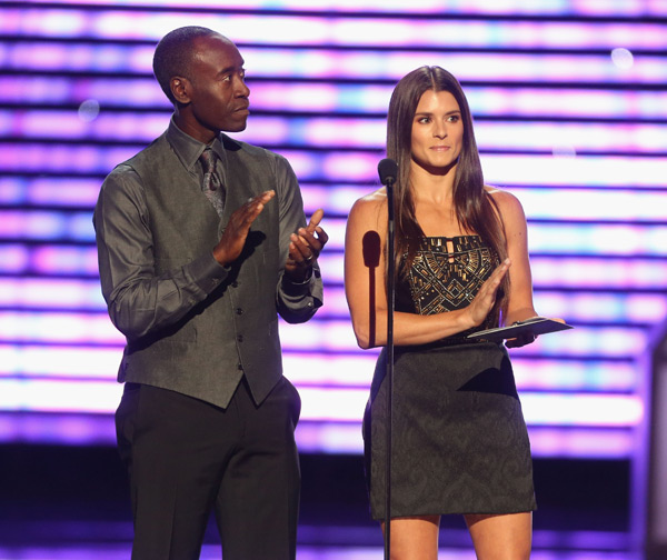 Don Cheadle and driver Danica Patrick ::  Frederick M. Brown/Getty Images for ESPY