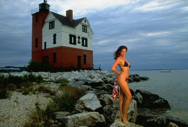 Stacey Williams in                           Round Island, Mich. :: Walter Iooss Jr./SI (1993)