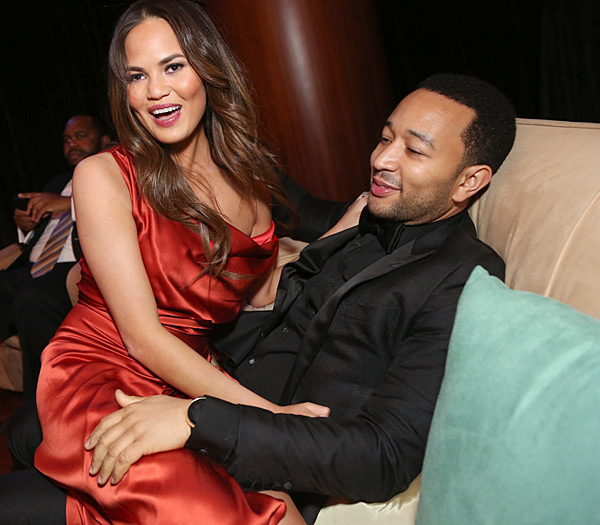 John and Chrissy share a laugh at the 2013 Hip-Hop Inaugural Ball ::  Johnny Nunez/WireImage