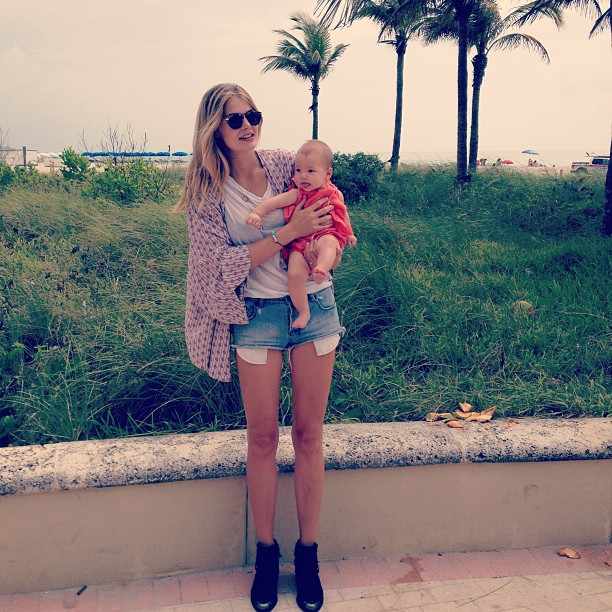 @toripraver: Just hanging with mom in Miami #workingmama