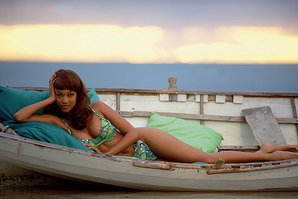 Tyra Banks in Islamorada, Fla. :: Walter Iooss Jr./SI