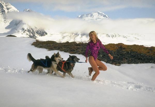 Vendela Kirsebom in                           Knik Glacier, Ala. :: Robert Huntzinger/SI