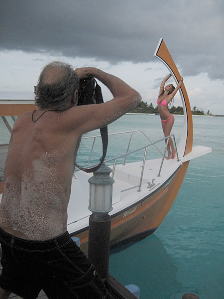The traditional dhoni boat in Maldives, 2010 issue.