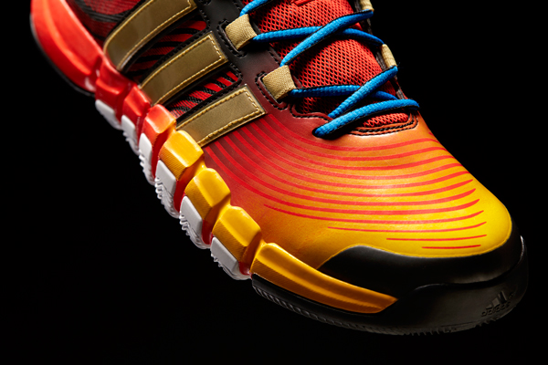 A detail look at the D Howard 4, the latest Adidas signature shoe for Rockets center Dwight Howard. (Adidas)