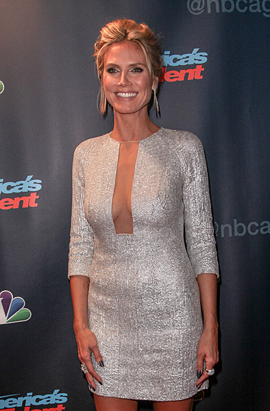 "Heidi Klum attends the ""America's Got Talent"" post show red carpet at Radio City Music Hall :: Kyle Blair/WireImage"