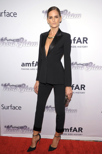Izabel Goulart attends the 4th Annual amfAR Inspiration Gala New York :: Michael Loccisano/Getty Images